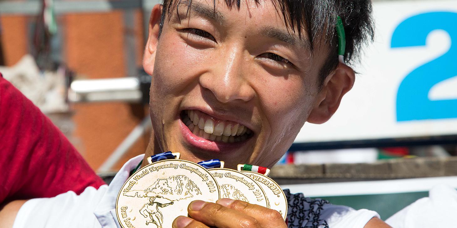 Ruy Ueda (JAP), Combined Champion Youth Skyrunning World Championships. ©fabriziopolitti.it