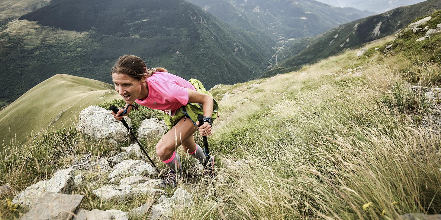 Christel Dewalle, 2016 Skyrunning Vertical World Champion. ©iancorless.com