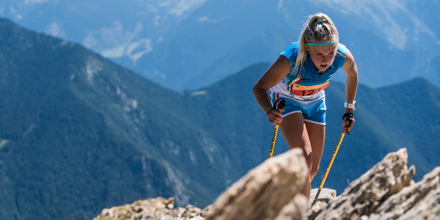 Italy's Giorgia Felicetti, winner KV Arinsal, B category, Youth Skyrunning World Championships. ©iancorless.com / ISF
