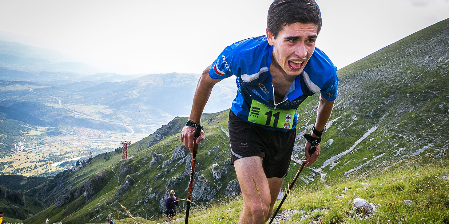 Tomas Krivohlavek (CZE) 4th Vertical Kilometer, Youth Skyrunning World Championships. ©fabriziopolitti.it