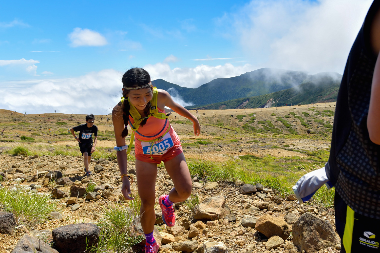 Some fun in the 2016 edition of the Zao Skyrace 28K. ©2016WILLE Marketing Co Ltd