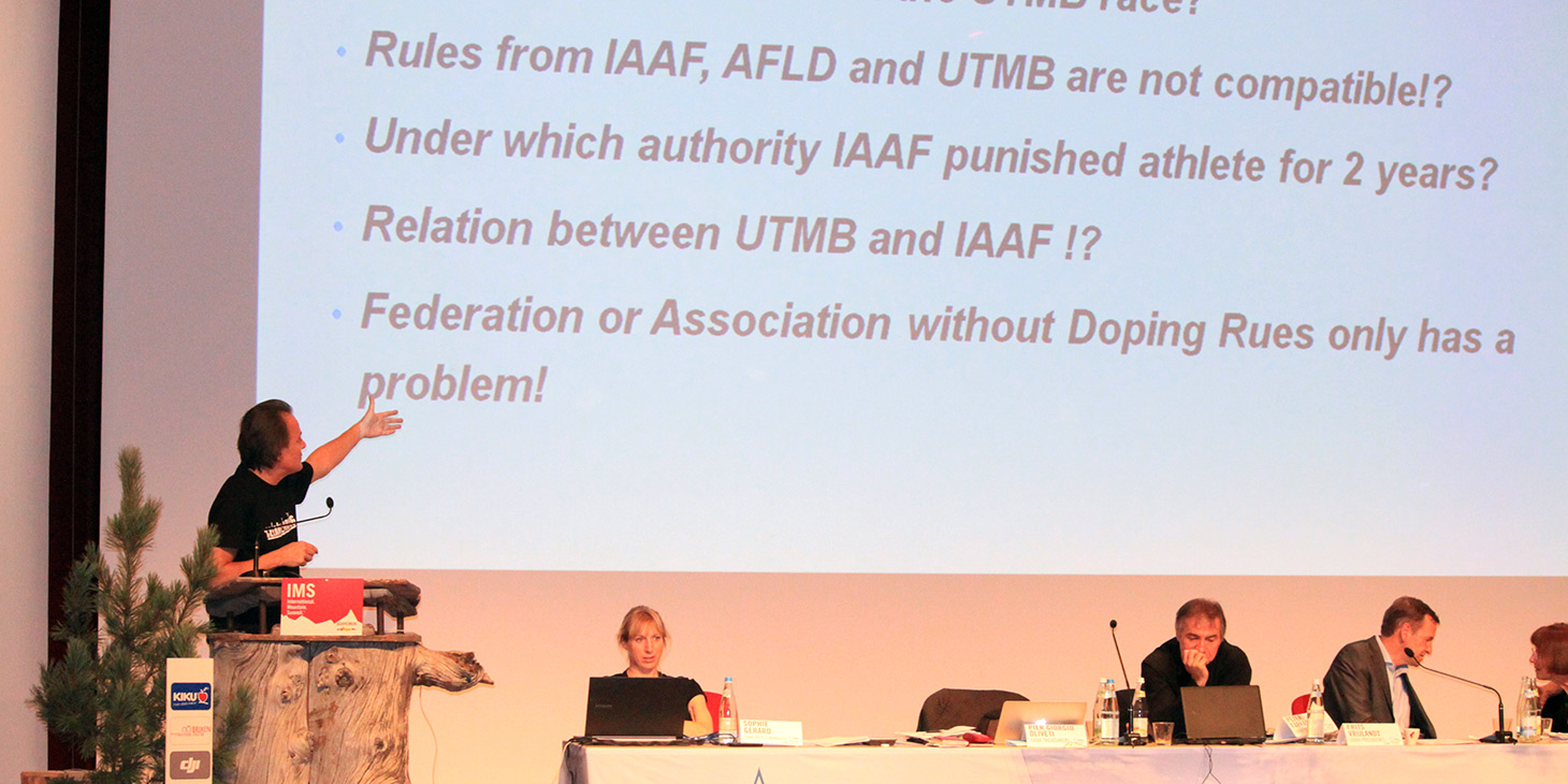 Dr Nenad Dikic, President, UIAA Anti Doping Commission. ©The UIAA