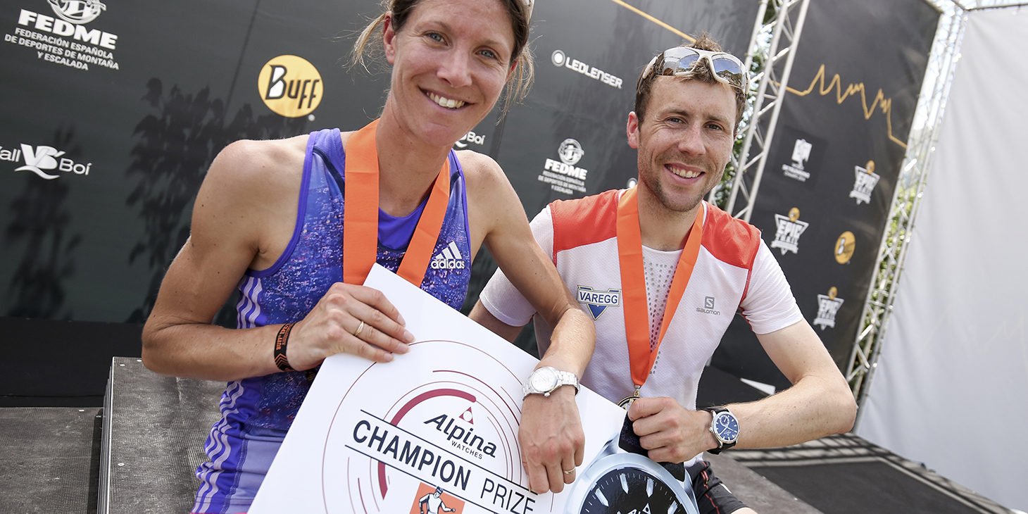 Christel Dewalle and Stian Angermund, winners of the Alpina Horological Smartwatch. ©iancorless.com