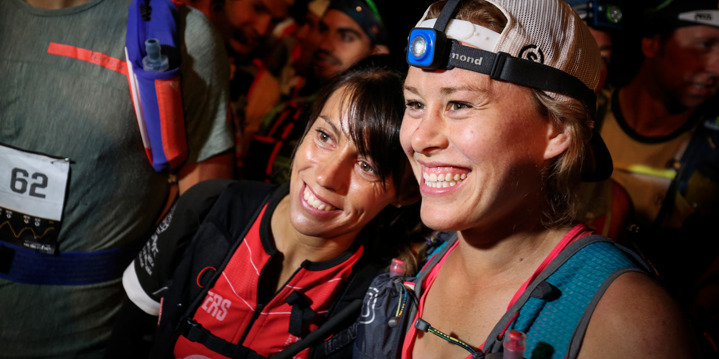 Gemma Arenas and Hillary Allen lining up for the High Trail Vanoise. ©iancorless.com / ISF