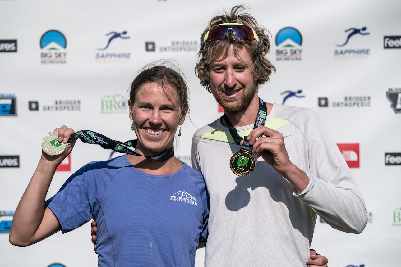 American Skyrunning Champions for the VK, Jennifer Kunzman and Jp Donovan. ©iancorless.com / ISF
